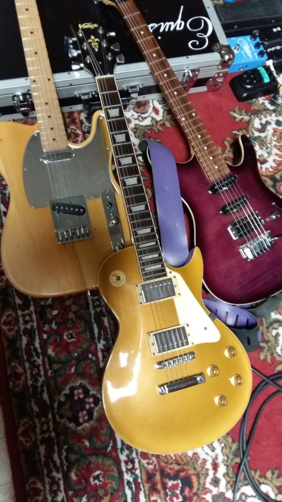 The guitars used for the clean recording sessions